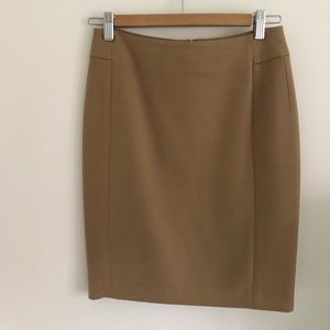 LOFT Anne Taylor khaki pencil skirt